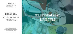 LUISS ENLABS lifestyle acceleration program